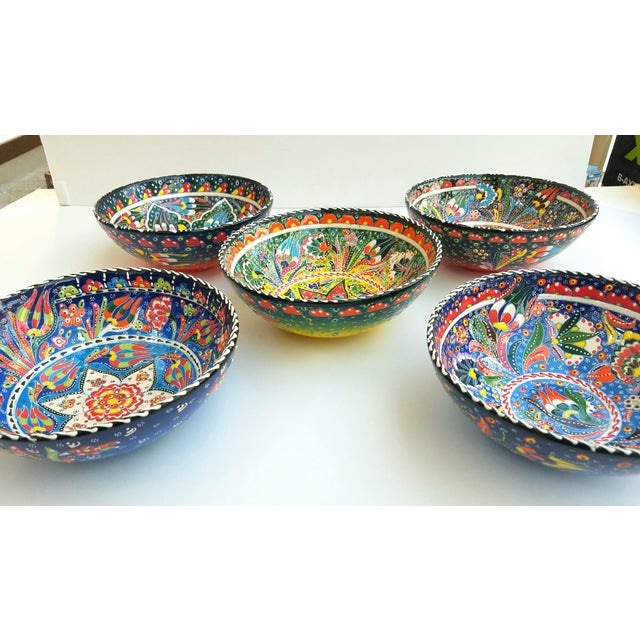Turkish Anatolian Bowls - Set of 5 - Image 6 of 6