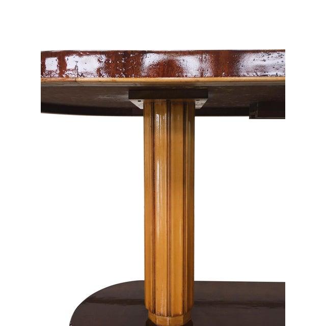 Gilbert Rohde Art Deco Oval Drop-Leaf Desk For Sale - Image 11 of 13