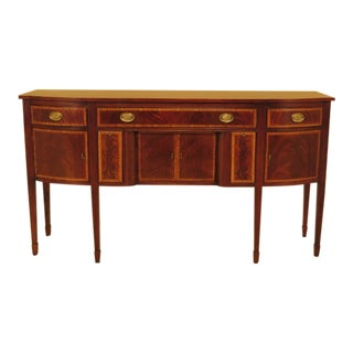 1990s Vintage Ethan Allen 18th Century Style Mahogany Sideboard For Sale