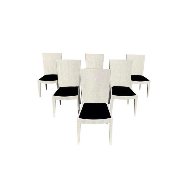 Dining Chairs by Enrique Garcel Tessellated Bone 1970s - Set of 6 For Sale - Image 13 of 13