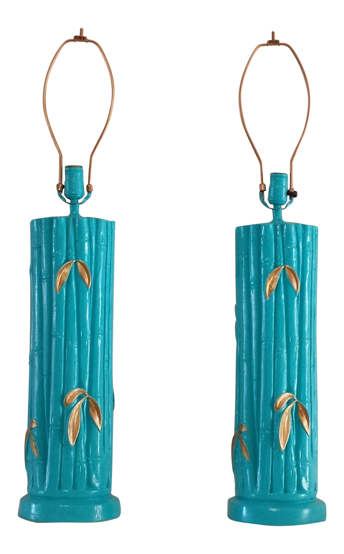Vintage Used Turquoise Table Lamps Chairish