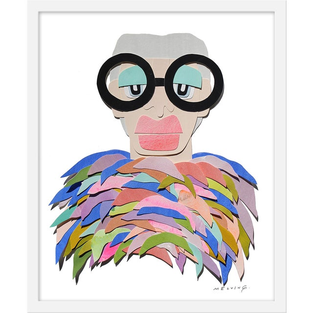 """Medium """"Iris With Rainbow Feathers"""" Print by Melvin G., 19"""" X 25"""" For Sale"""
