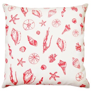 Artgoodies Coral Shell Designer Fabric Pillow