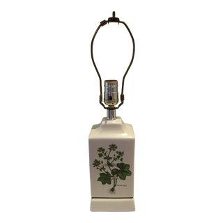 Vintage Cottage Botanical Table Lamp For Sale