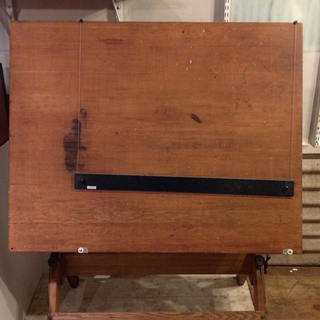 Antique Architect Drafting Table - Image 6 of 8