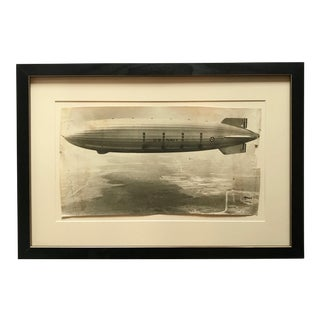 1931 Framed Vintage Navy Airship Akron Photo For Sale