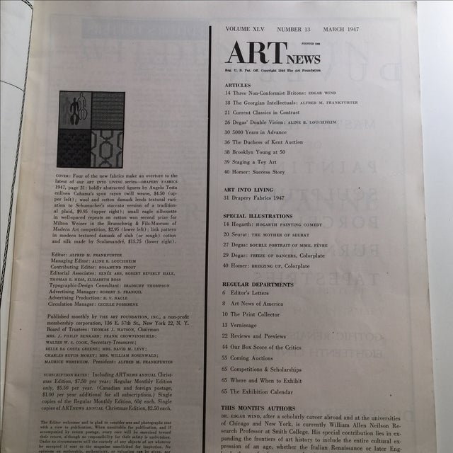 Artnews March 1947 Magazine - Image 4 of 11