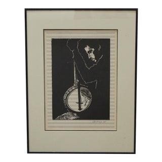 Howard Albert Woodblock Print For Sale