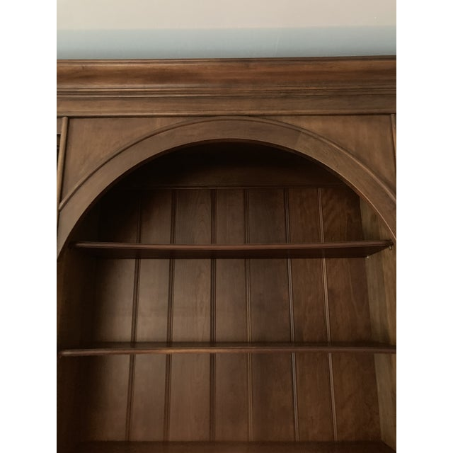 Cherry Triple Bookcase Breakfront Cabinet by Henredon For Sale - Image 9 of 13