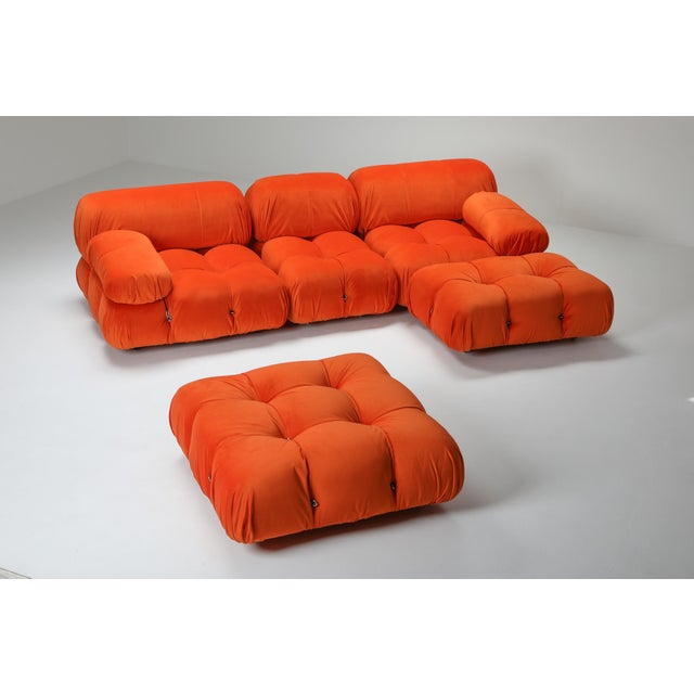 B&B Italia 1970s Camaleonda Sectional Sofa in Bright Orange For Sale - Image 4 of 9
