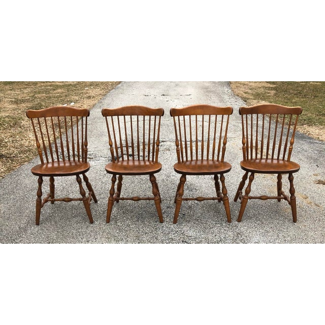 Vintage Mid Century S. Bent & Bros. Windsor Chairs - Set of 4 For Sale - Image 10 of 11