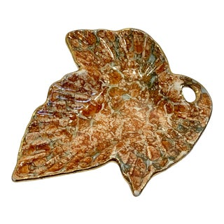 Late 20th Century Miniature Leaf Dish For Sale