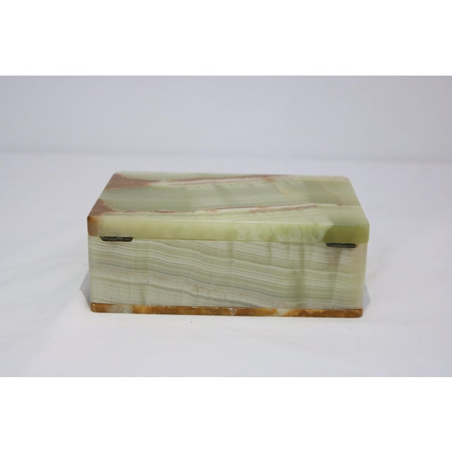 Mid-Century Modern Mid-Century Marbled Onyx Box For Sale - Image 3 of 7