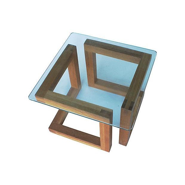Mid-Century Modern Geometric Side Table - Image 2 of 3
