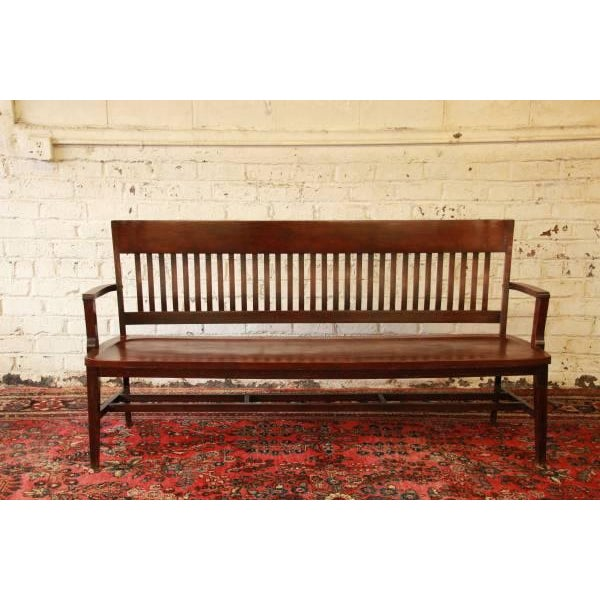 This is an amazing lawyers bench from the early 1900s by Heywood-Wakefield Brothers. The bench is solid and sturdy with...