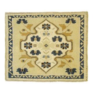 Vintage Turkish Oushak Yastik Rug, Square Accent Rug - 01'08 X 02'00 For Sale