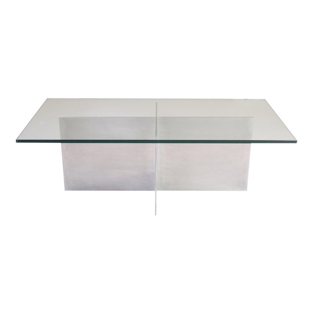 Minimalist Metal Plane Cocktail Table by Paul Mayen for Habitat - Image 1 of 6