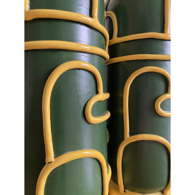 Ugo Zaccagnini Late 1940s Pottery Ceramic Lamps by Ugo Zaccagnini - a Pair For Sale - Image 4 of 11