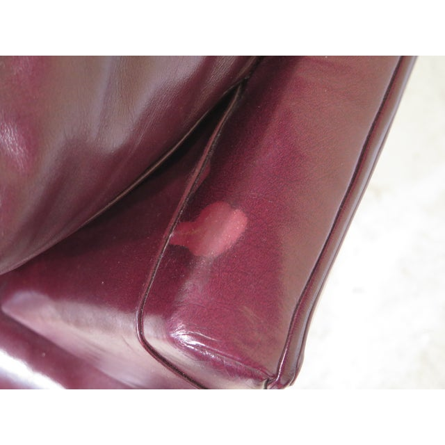 Burgundy Leather Club Chairs - A Pair - Image 7 of 13