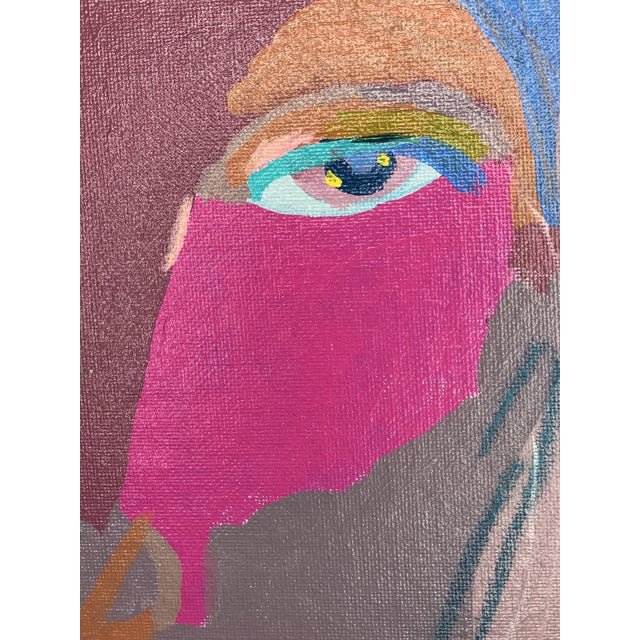 """Early 21st Century Contemporary Abstract Portrait Painting """"This Is It, No. 2"""" - Framed For Sale - Image 5 of 12"""