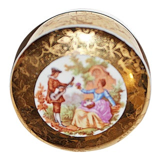 Porcelaine de Limoges Trinket Ring Jar For Sale