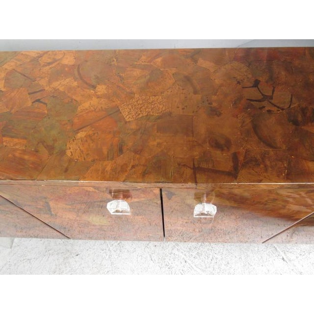 1970s Patchwork Copper and Lucite Sideboard in the Style of Milo Baughman For Sale - Image 5 of 11