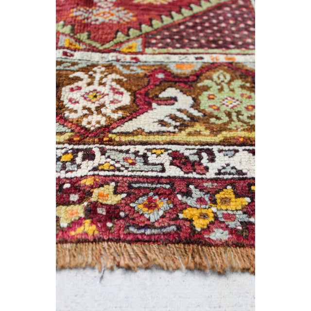 Vintage Turkish Rug, Berry & Mint - 2′2″ × 4′2″ - Image 4 of 4