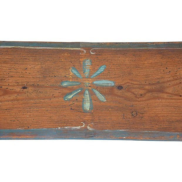 1930s Hand-Painted Farmhouse Country Bench For Sale - Image 10 of 13