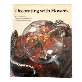 Vintage Decorating With Flowers Book by Otis Abrams Edition For Sale