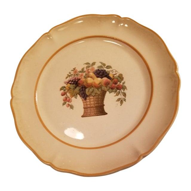 "European Basin Antique ""Tia Tereriris"" Earthenware Plate For Sale"