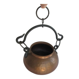 Hanging Turkish Copper Pot For Sale