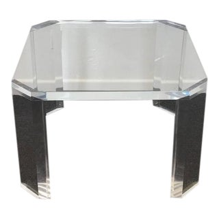 """Acrylic """"L'Ami"""" Side Tables by Charles Hollis Jones - A Pair"""