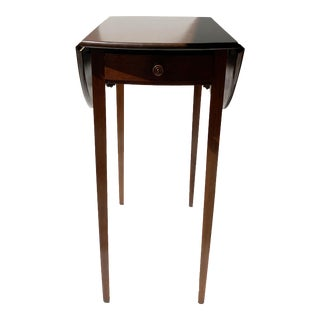 Traditional Drop Leaf Mahogany Side Table For Sale