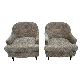 Mid-Century Modern Boho-Chic Armchairs- a Pair For Sale
