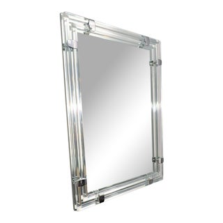 Mirror with Glass Tubular Rods For Sale
