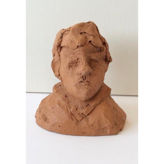 Ceramic Ceramic Portrait Bust 1970s For Sale - Image 7 of 7
