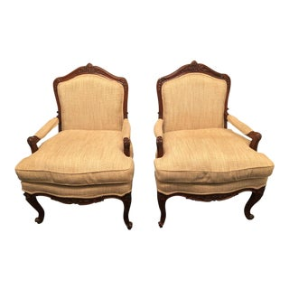 1950s Vintage Louis XV Chairs - Pair For Sale