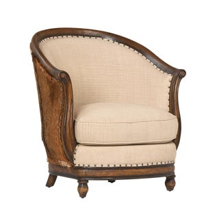 Goat Hide Occasional Chair For Sale