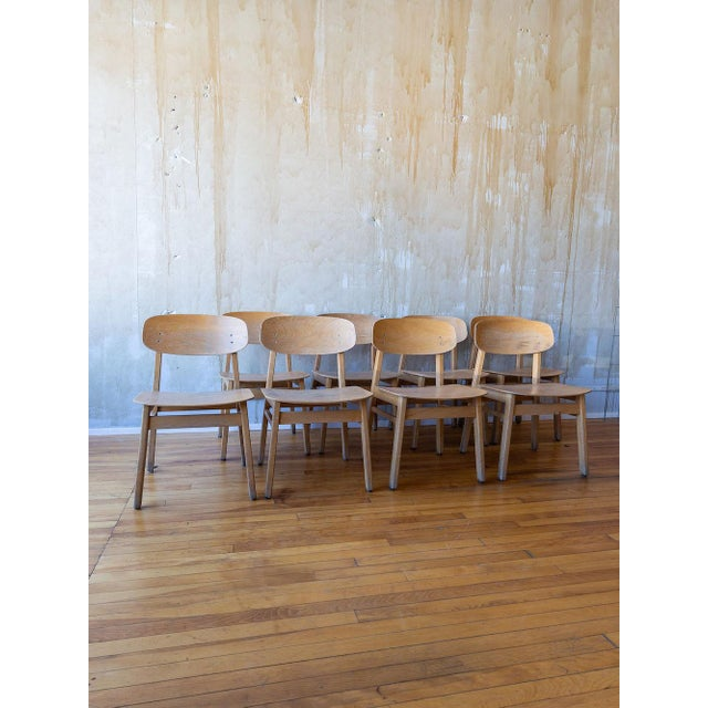 Mid 20th Century Vintage Italian School Chairs- Set of 8 For Sale - Image 5 of 11