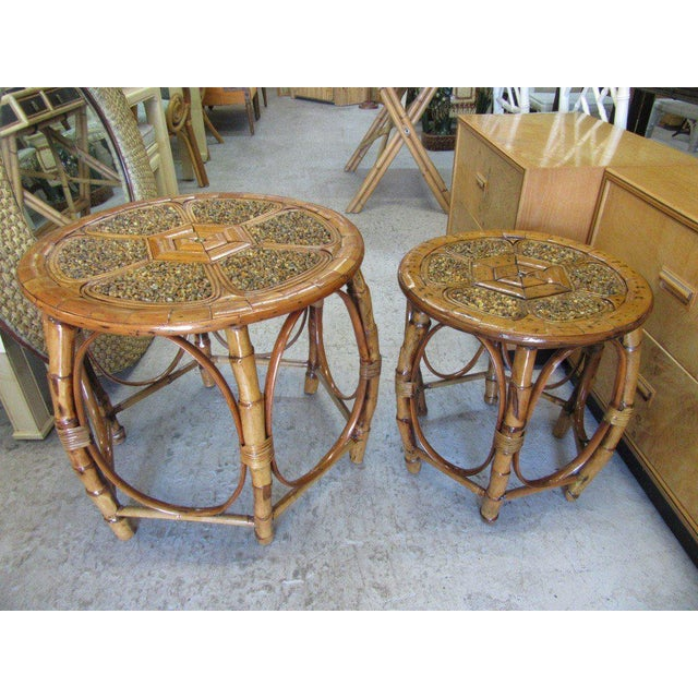 Island Style Drum Tables - a Pair - Image 10 of 10