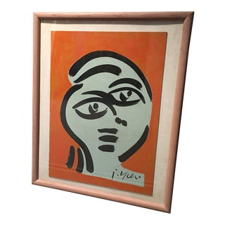 1970s Peter Keil Abstract Portrait Face Painting For Sale