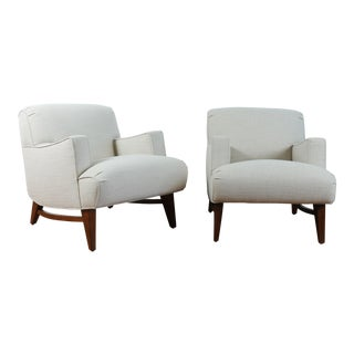 Mid Century Modern Pair of Lounge Chairs For Sale