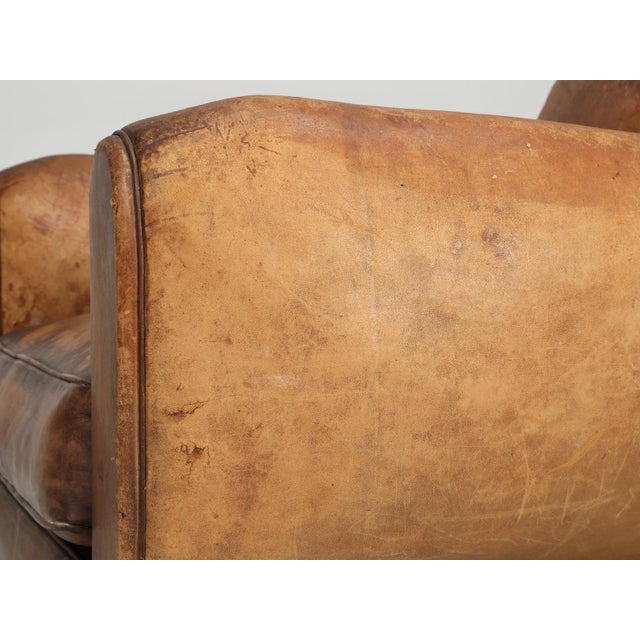 French Art Deco Club Chair Carefully Restored For Sale In Chicago - Image 6 of 13