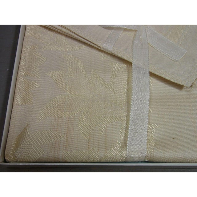 Antique Boxed German Linen Tablecloth & 6 Napkins - Image 5 of 10