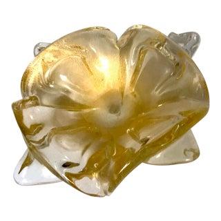 Mid-Century Italian Murano Sommerso Glass Amorphic Bowl
