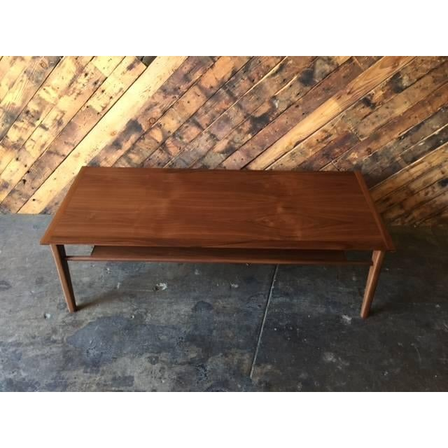 Drexel-Style Walnut Coffee Table - Image 4 of 6