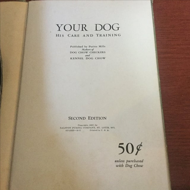 Early American 1937 Book, Your Dog His Care & Training For Sale - Image 3 of 9
