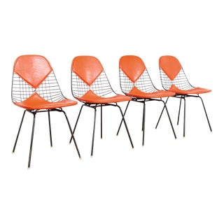 Vintage Eames for Herman Miller Dkx-2 Red Bikini Chairs For Sale