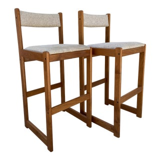 Findahl's Møbler A/S Bar Stools- a Pair For Sale