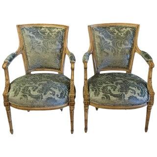 Maison Jansen Louis XVI Style Chairs - A Pair For Sale